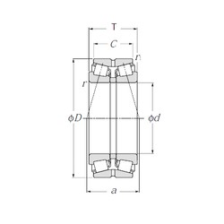 NTN 430321X Double Row Tapered Roller Bearings (Outside Direction)