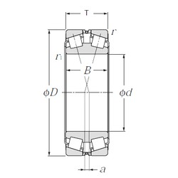 220 mm x 370 mm x 120 mm  NTN 323144 Double Row Tapered Roller Bearings