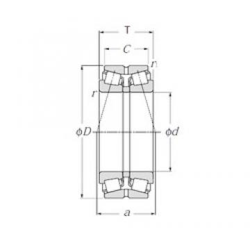 NTN 423028 Double Row Tapered Roller Bearings (Outside Direction)
