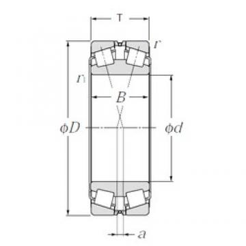 180 mm x 280 mm x 74 mm  NTN 323036E1 Double Row Tapered Roller Bearings (Inside Direction)